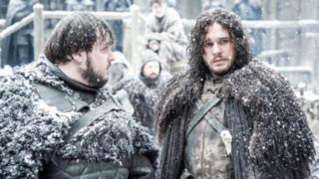 Kit Harington playing Jon Snow in Game of Thrones
