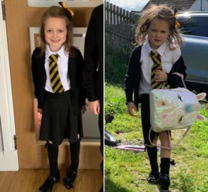 Lucie before and after school
