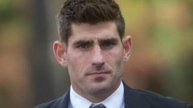 Ched Evans arriving for court