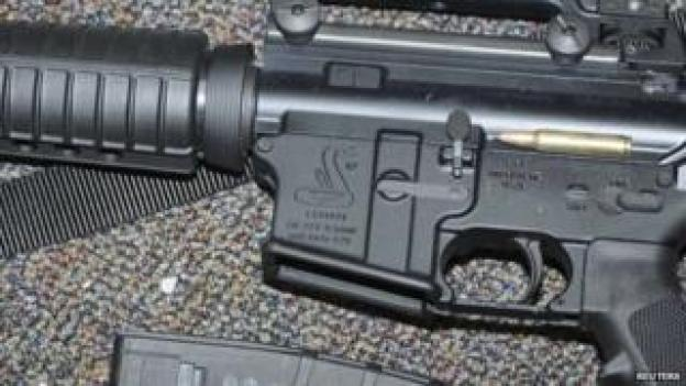 Close-up of a rifle released by Connecticut police (27 December 2013)