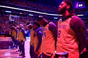 Lakers playing their first game after the death of Kobe Bryant