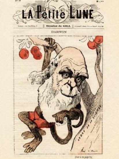 غلاف مجلة فرنسية يحمل صورة داروين