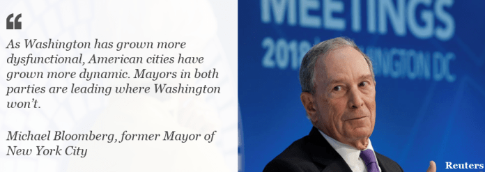 Quote from Michael Bloomberg on strength of US cities