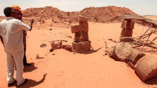 Sudan's Jabal Maragha: Illegal gold diggers destroy ancient site ...