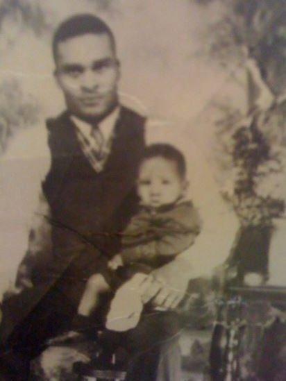 Joe Ligon with his dad