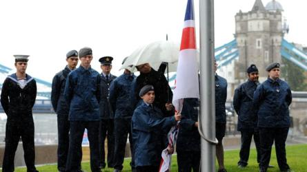 Flag-raising ceremony for Armed Forces Day