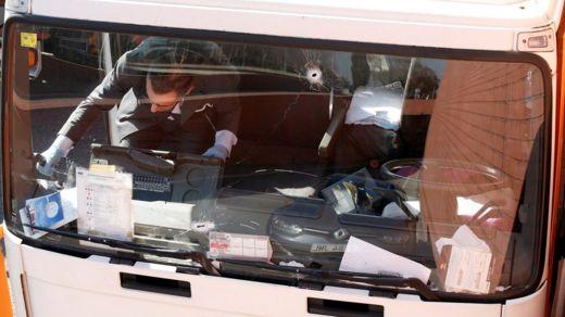investigator on truck