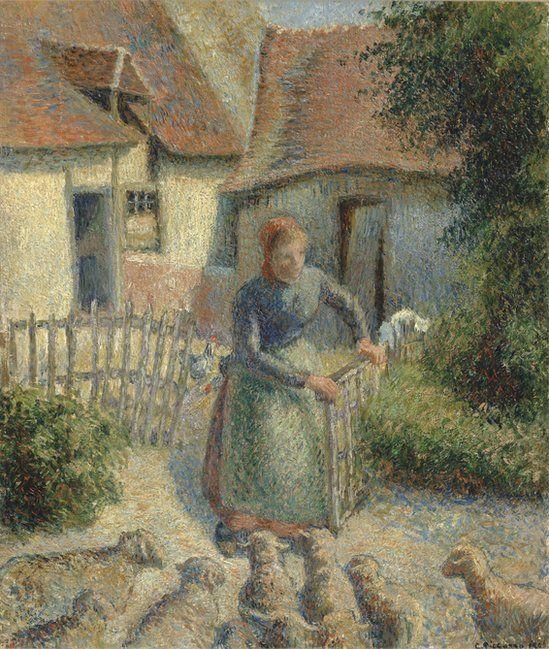 Pissarro's Bergère Rentrant Des Moutons