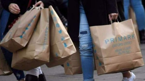 Primark shoppers carrying bags