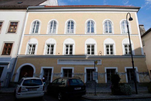 Adolf Hitler's birth house in Braunau am Inn, Austria