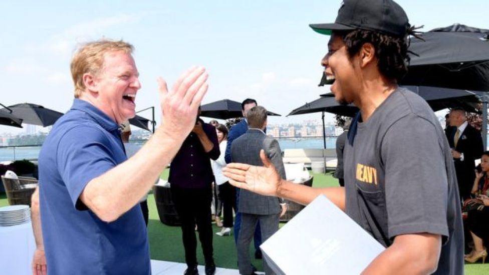NFL commissioner Roger Goodell and Jay-Z hope to bring football and music closer together with their partnership