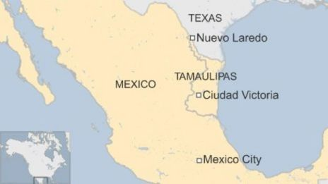 Map of Tamaulipas