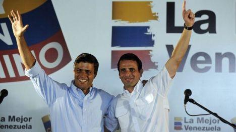 Leopoldo López y Henrique Capriles Radonski.