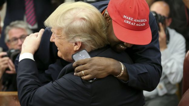 Trump hugs in the White House