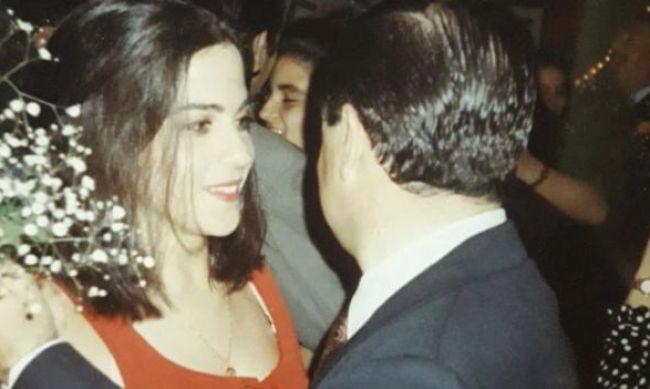 Analía Kalinec bailando con su padre
