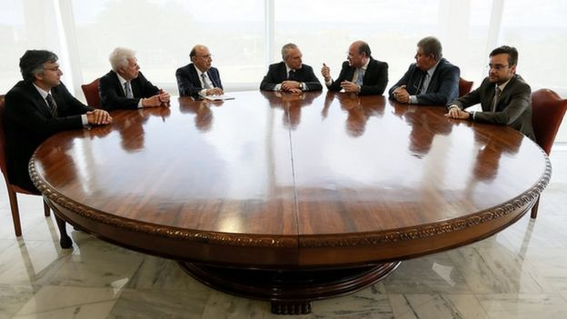Reunião de Temer com a equipe econômica