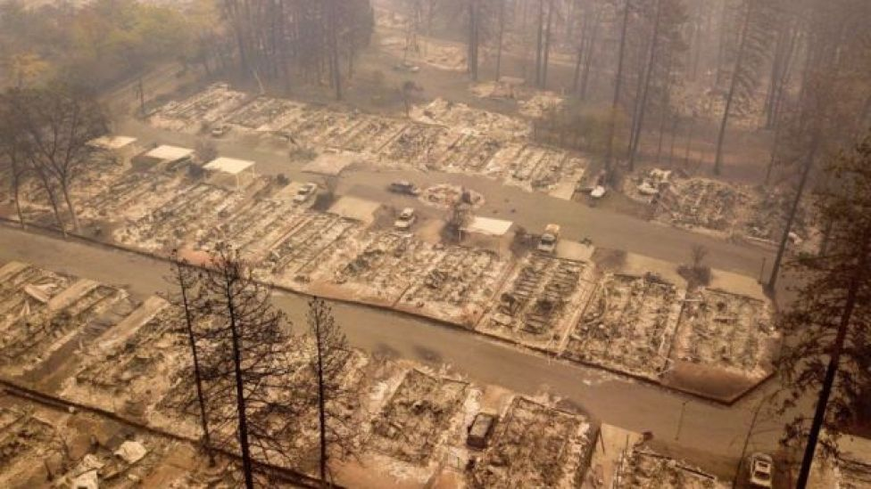 Incendio en Paraíso, California, noviembre 2018