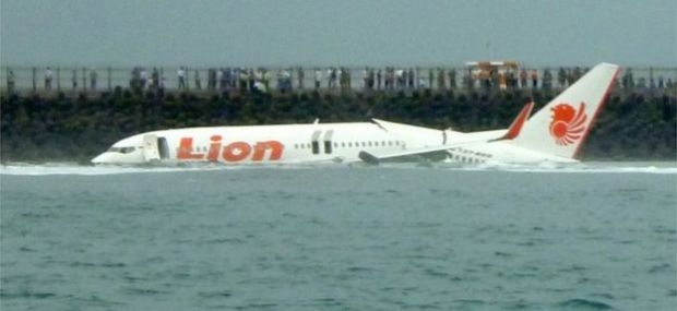 Lion Air flight 904 in the sea off Bali in 2013