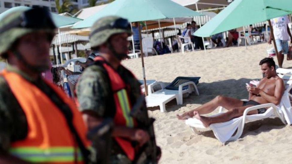 """El grupo de """"La Barbie"""" desató la violencia en el balneario de Acapulco."""