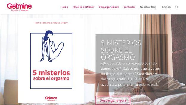 Una captura de pantalla de la página web GetMine