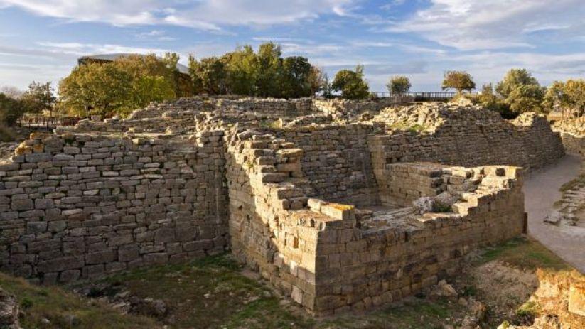 Ruinas en el lugar donde algunos creen que estuvo Troya.