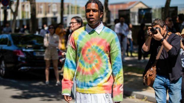 ASAP Rocky at fashion week