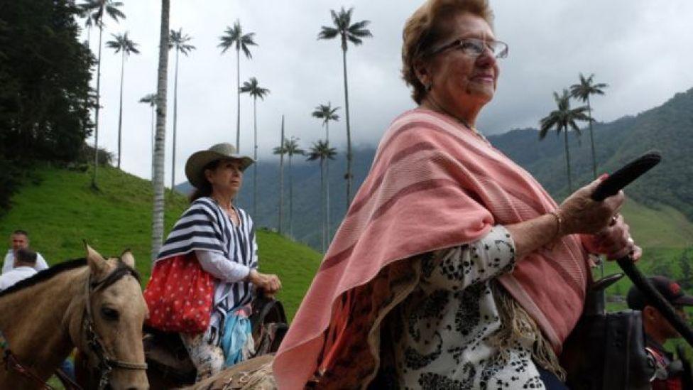 Turistas en el Valle del Cocora