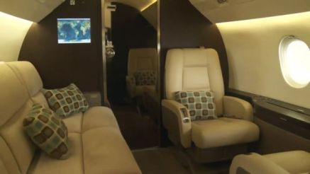 Inside of a private jet in Nigeria