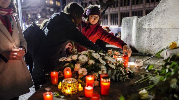 vigil in Frankfurt