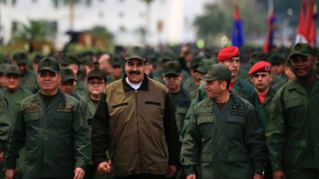 Tras los sucesos del 30 de abril, Maduro ha realizado varios encuentros con miembros de las Fuerzas Armadas.