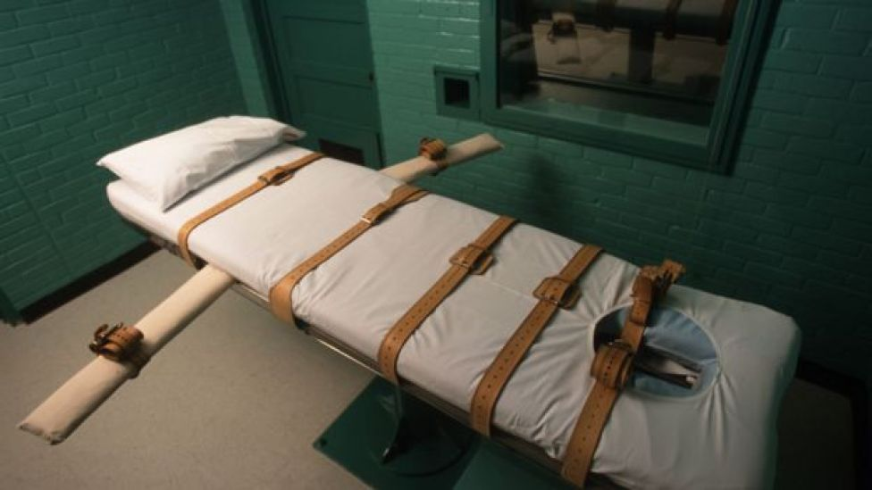 The room where lethal injections take place