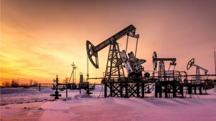 Grúa de extracción de petróleo.