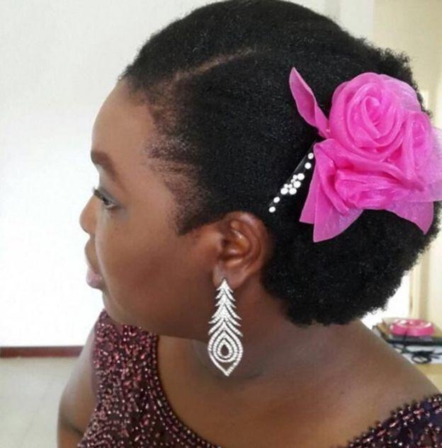 Naa Akuyea Shika Pappoe shows off her hair
