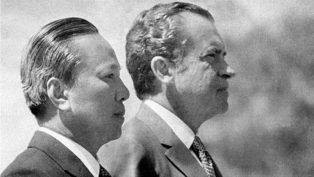 Hai Tổng thống Nguyễn Văn Thiệu và Richard Nixon