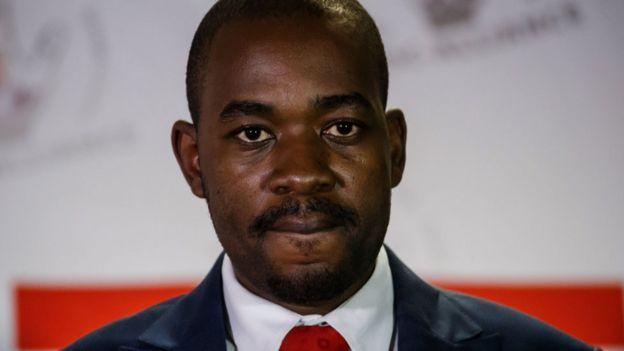 Kiongozi mkuu wa muungano wa MDC Alliance, Bw Nelson Chamisa