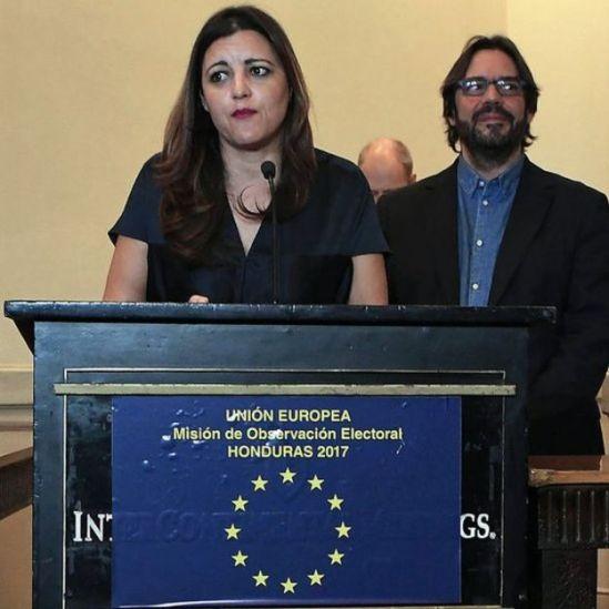 Marisa Matías, jefe de la delegación de observación electoral de la Unión Europea