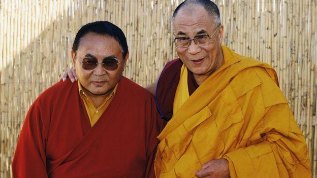 Sogyal Lakar and the Dalai Lama