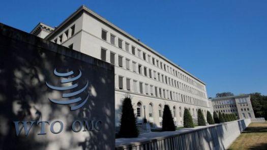 A OMC (Organização Mundial de Comércio, ou World Trade Organization, em inglês) em Genebra, Suíça