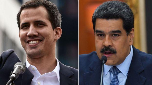 Guaidó y Maduro.