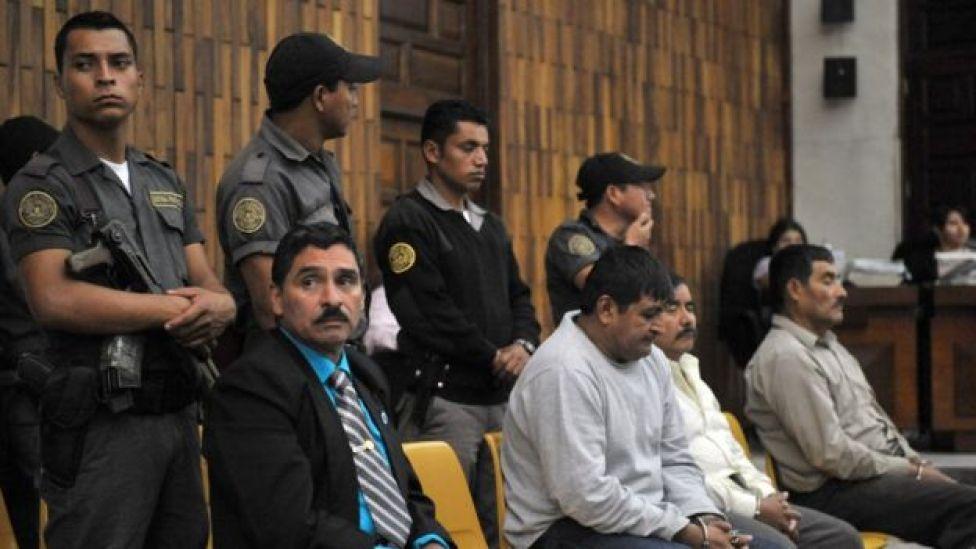 Carlos Antonio Carías López, Daniel Martínez Martínez, Reyes Collin Gualip y Manuel Pop Sun