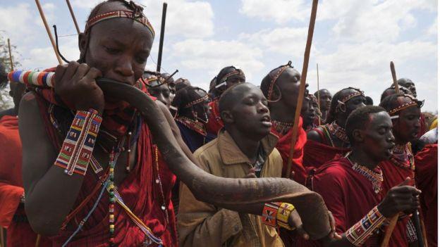 Integrantes de la tribu Masái