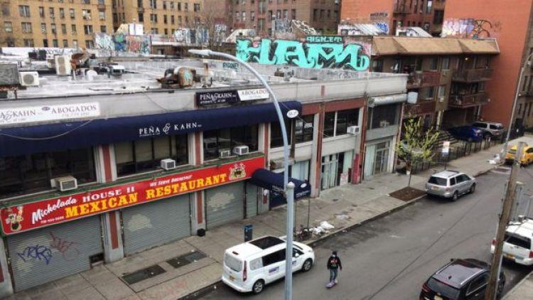 Restaurante mexicano cerrado en Queens.