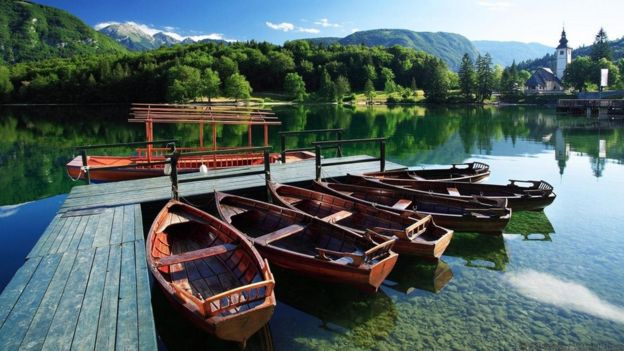 The quiet stillness of Lake Bohinj can feel overwhelming