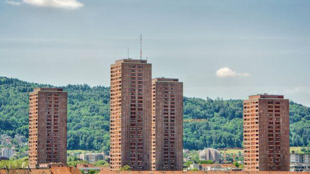 Edifícios em Zurique, na Suíça
