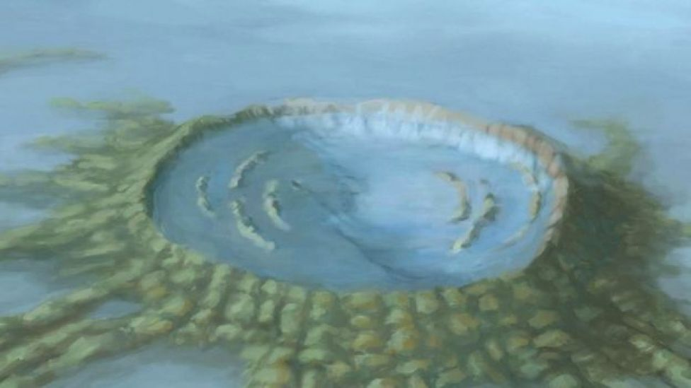 Dibujo de un cenote.