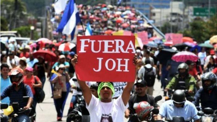Una protesta contra el presidente de Honduras