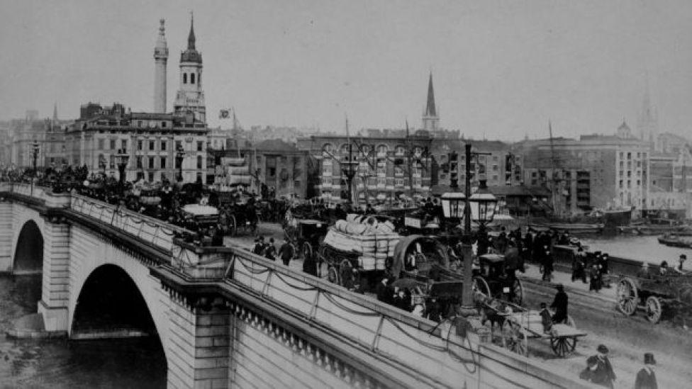 Antiguo puente de Londres.