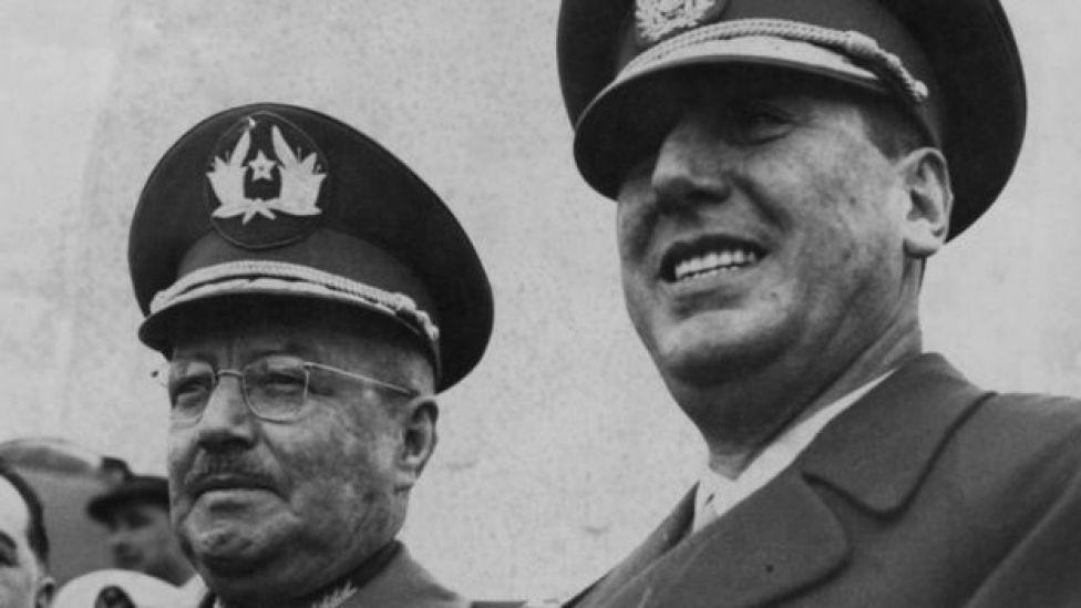 Carlos Ibáñez y Juan Domingo Perón