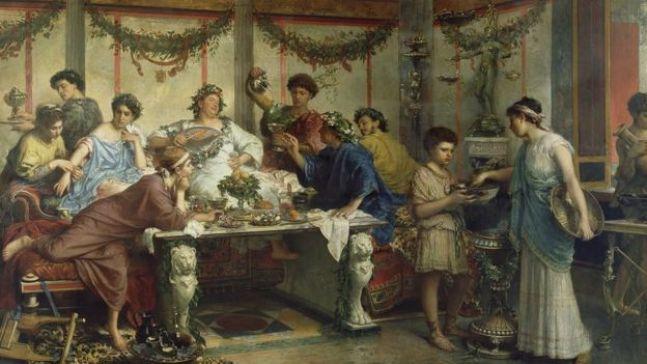 لوحة فنية للرسام الإيطالي روبرتو بومبياني تعود إلى القرن التاسع عشر تصور كرنفال ساتورن