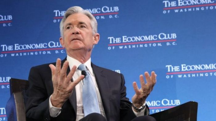 Federal Reserve Board Chairman Jerome Powell speaks at the Economic Club of Washington January 10, 2019 in Washington, DC.